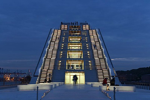 Office Building Dockland on River Elbe, Hamburg, Germany