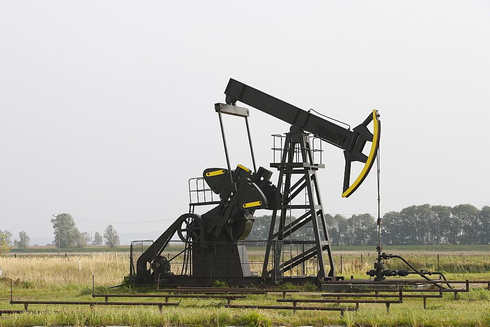 Oil hoist frame on the island of Usedom, Mecklenburg-Western Pomerania, Germany