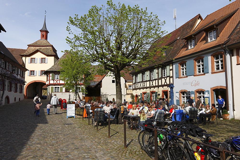 Historic centre of Vogtsburg-Burkheim, Kaiserstuhl, Baden-Wuerttemberg, Germany, Europe