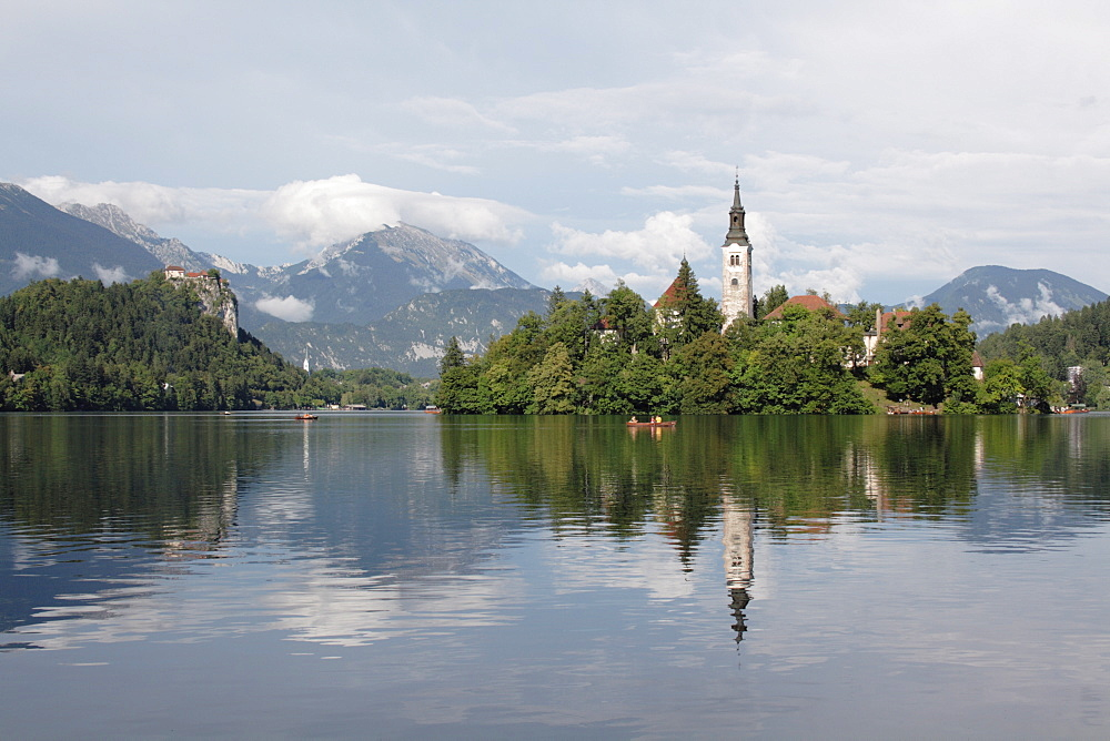 Island with Assumption of Mary's Pilgrimage Church, Bled, Slovenia