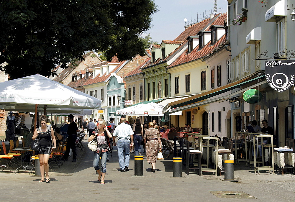 Tkalciceva Ulica, street with cafes and bars