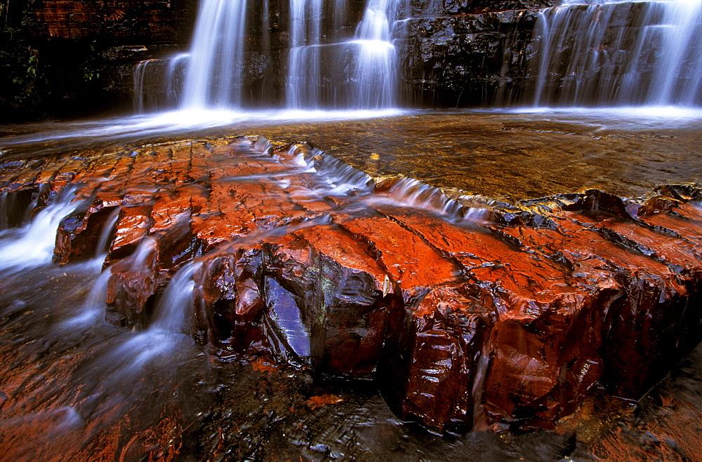 Jasper riverbed, Quebrada de Jaspe, Bolivar, Gran Sabana, Venezuela, South America