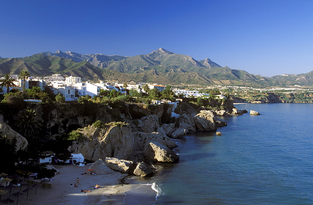 Playa de Calahonda, beach in Nerja, Costa del Sol, Malaga Province, Andalusia, Spain