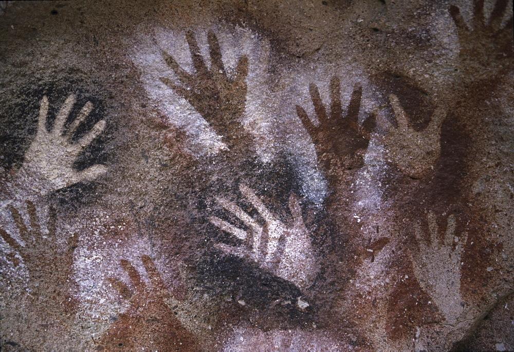 Cueva de las Manos (Cave of the Hands), UNESCO World Heritage Site in Patagonia, Santa Cruz Province, Argentina, South America