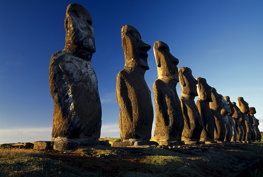 Moais, Easter Island, Chile, South America