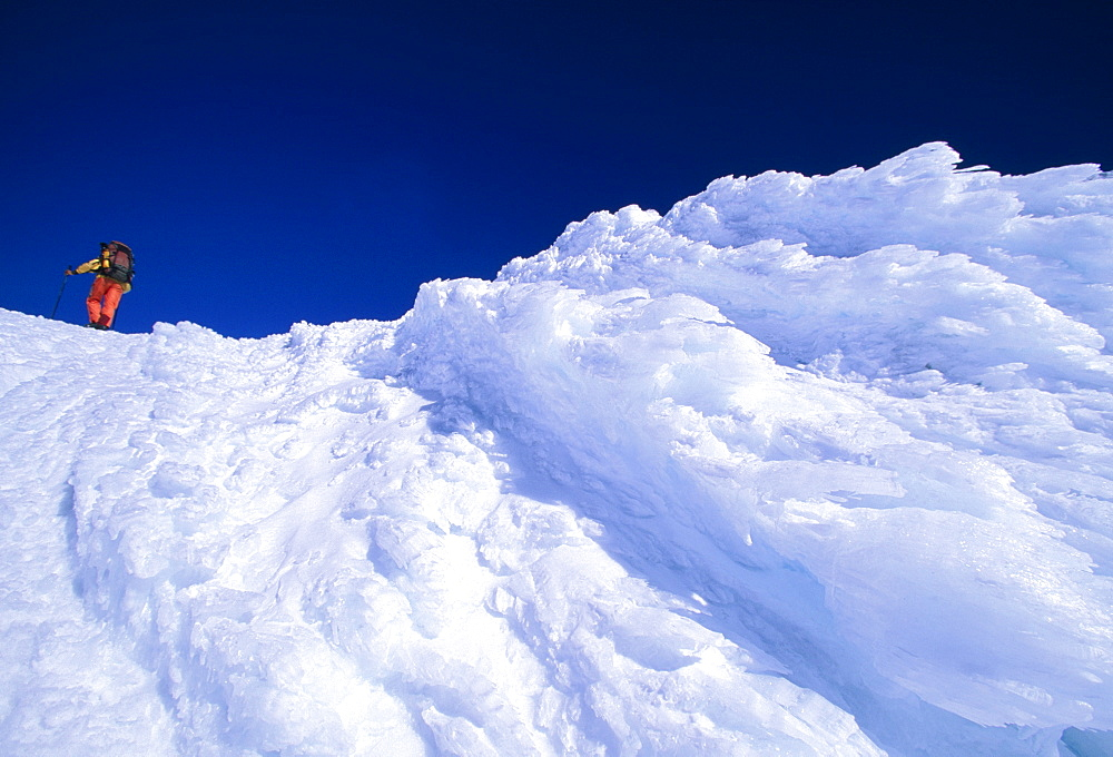 Ascent of the Villarrica volcano, Patagonia, Lake District, Chile, South America