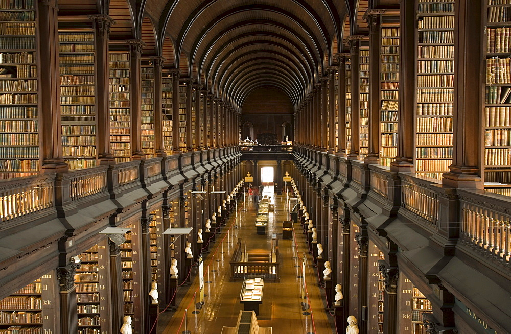 Long Room, Trinity College, Dublin, County Dublin, Ireland