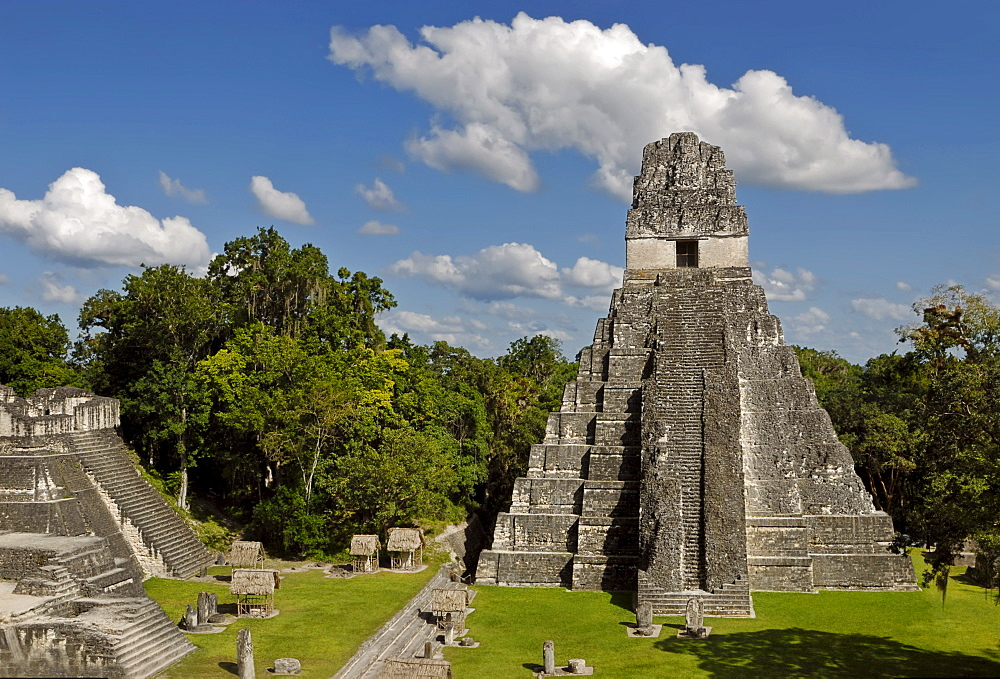 Maya ruins, Tikal, view of Temple I, Yucatan, Guatemala, Central America