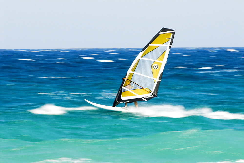 Windsurfer, Mediterranean coast, Spain