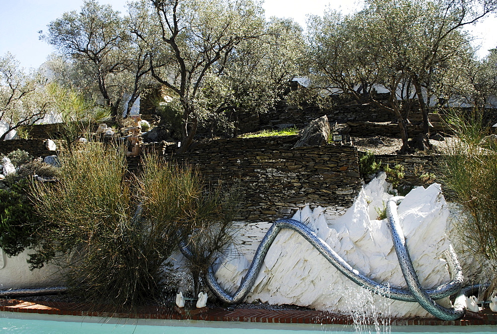 Garden at the former home of surrealist painter Salvador Dali and his wife Gala in Port Lligat, Province Girona, Spain
