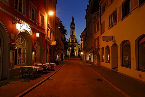 Konstanz - old part of town and the Lutherkirche in the Background - Konstanz, Baden Wuerttemberg, Germany, Europe.