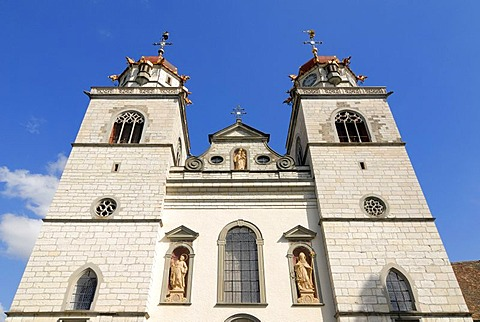 Rheinau - towers from the monastic church - Kanton Zurich, Switzerland, Europe.