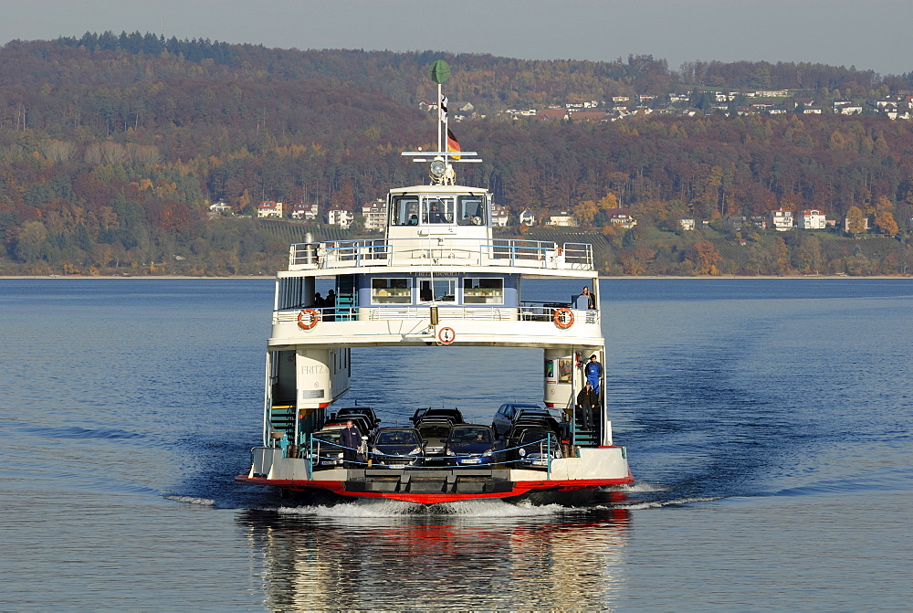 Ferry Ship MF Fritz Arnold - Baden Wuerttemberg, Germany Europe.