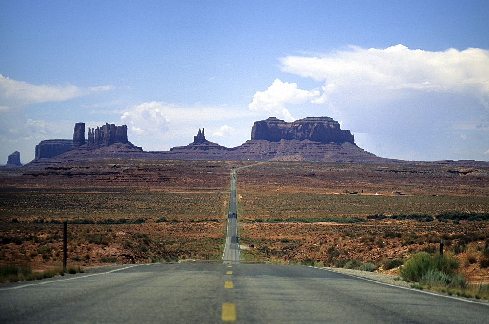 Highway going through Monument Valley, Southwest USA