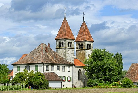 Church of St. Peter and St. Paul, Reichenau Island, Baden-Wuerttemberg, Germany, Europe