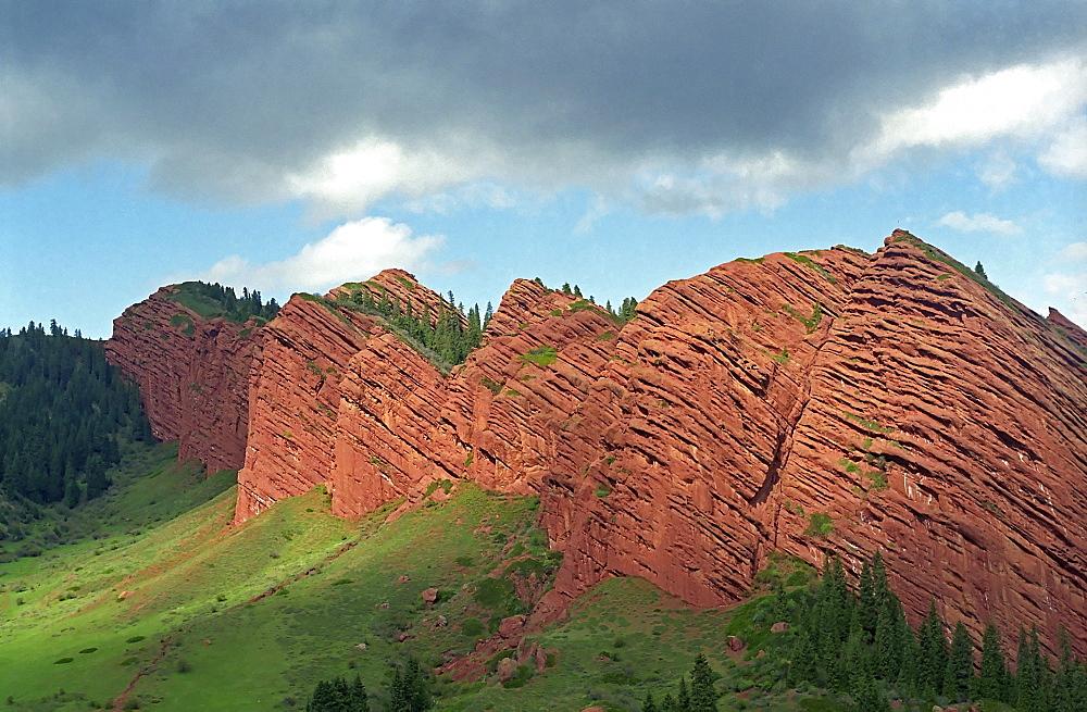 National park Altyn Emel. Aktau, Kasakhstan.