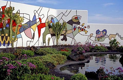 A mural from Cesar Manrique, Fundacion Cesar Manrique (Taiche), Lanzarote