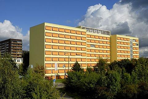 Senioren-Wohnpark (Senior citizen home), Leipzig-Gruenau, Leipzig, Saxony, Germany