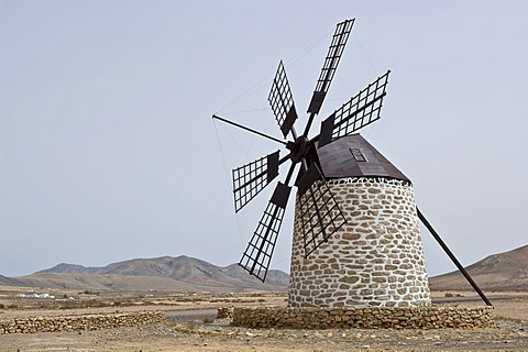 Windmill, La Olivia Betancuria, Fuerteventura, Canary Islands, Spain