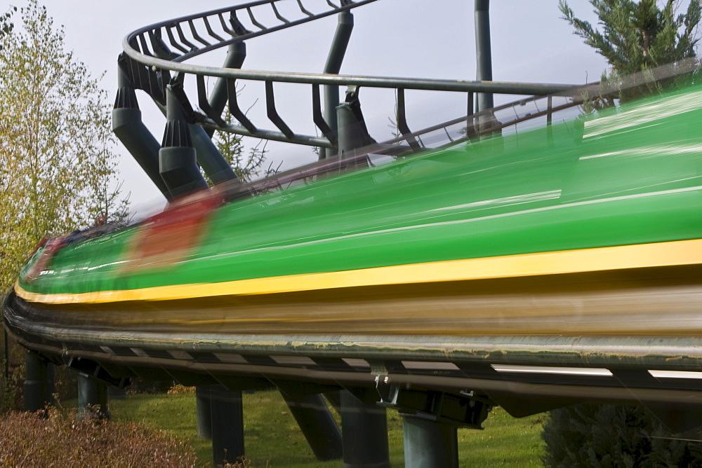 Fast rollercoaster, Legoland, Guenzburg, Bavaria, Germany