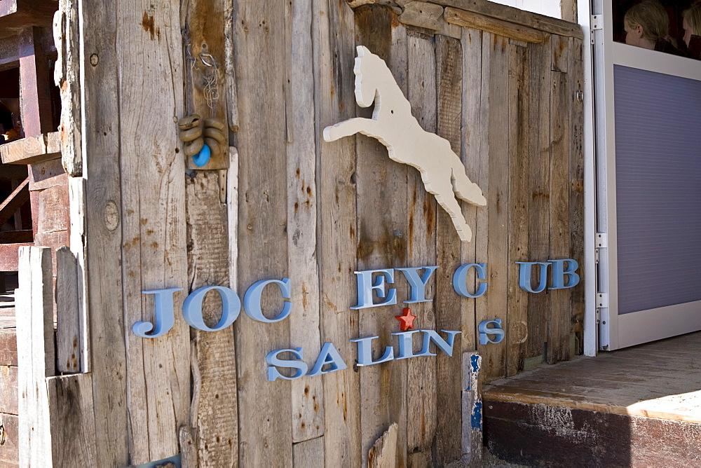 Restaurant Jockey Club at Les Salinas beach, Ibiza, Baleares, Spain