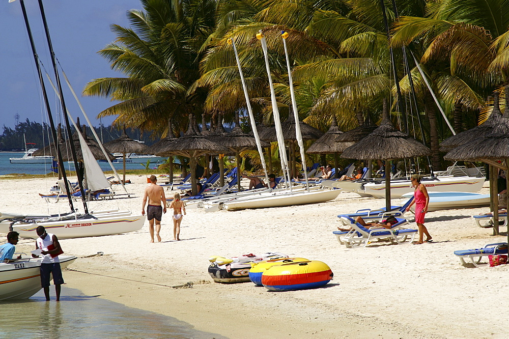 Beach of Trou aux Biches, Mauritius, Mascarenes, Indian Ocean