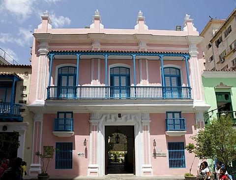 Venezuelan Embassy in the historic city centre of Havana, Cuba, Caribbean