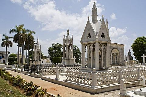 Cementerio Cristobal Colon, Colon Cemetery in Havana, Cuba, Caribbean