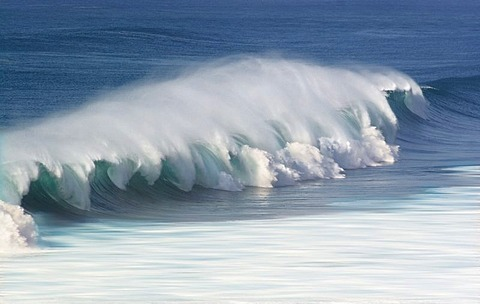 Wave in the Atlantic Ozean, Fuerteventura, Canry Island, Spain