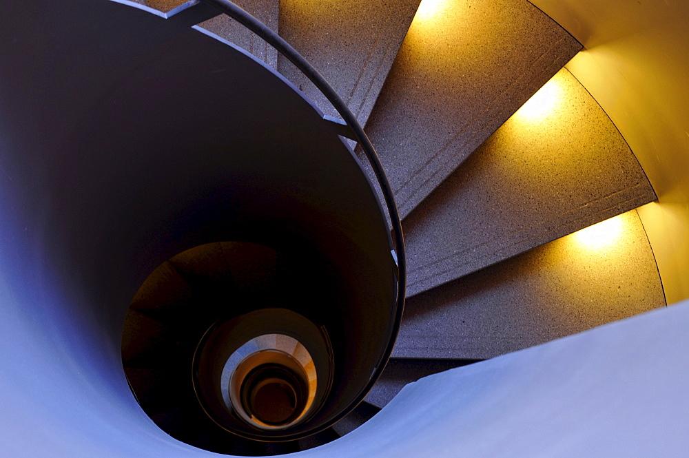 Winding staircase, Munich, Germany, Europe
