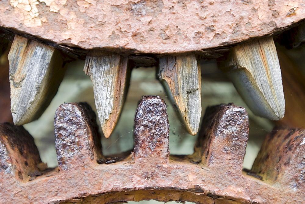 Rusty cogwheel, gearwheel, detail