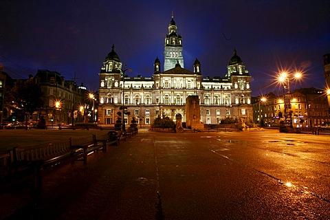Town Hall of Edinburgh, Scotland, Great Britain