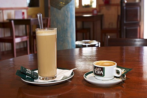 Coffees Galao and Garoto in Cabanas de S. Jorge Village Tourist Complex - Madeira