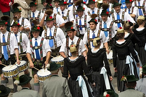 Costume and Riflemen's Procession in Wolfratshausen - Bavaria
