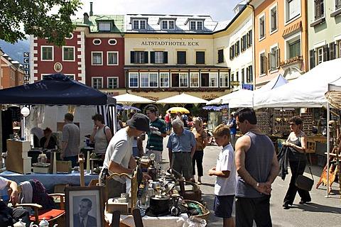 Flea market in Lienz in East Tyrol - Austria