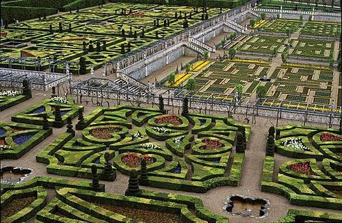 Villandry castle gardens France