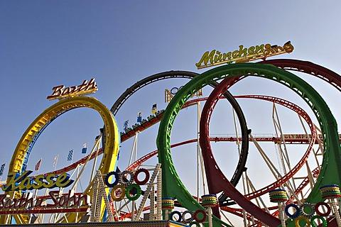 Oktoberfest Munich - roller coaster