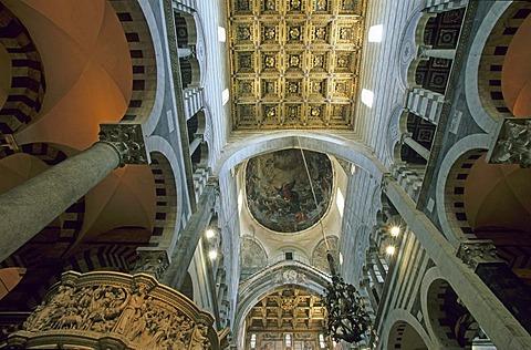 Interior of Duomo Pisa Italy