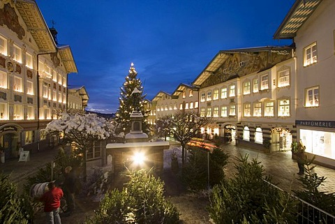 Christmas market in Bad Tolz Upper Bavaria Germany
