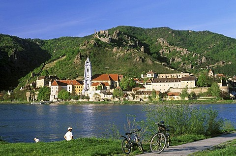 Durnstein Duernstein Danube river Wachau Lower Austria