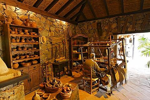 Hand loom , Casa Santa Maria in Betancuria , Fuerteventura , Canary Islands