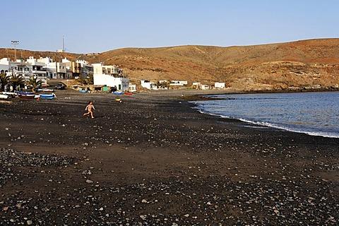 Lajita , running children , Fuerteventura , Canary Islands