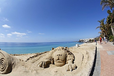 Sculptures of sand in Morro Jable , Jandia , Fuerteventura , Canary Islands - 832-335596