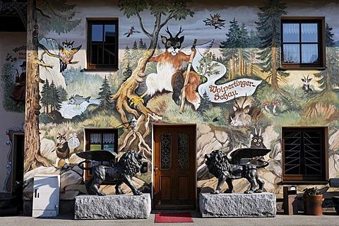 Wolpertinger show at Baerwurzerei Hieke distillery in Zwiesel, Bayerischer Wald, Lower Bavaria, Germany