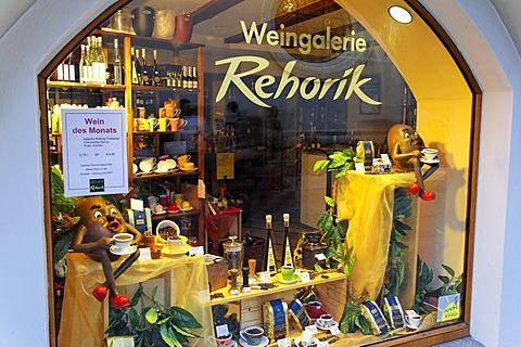 Wine store Weingalerie Rehorik, Regensburg, Upper Palatinate, Bavaria, Germany