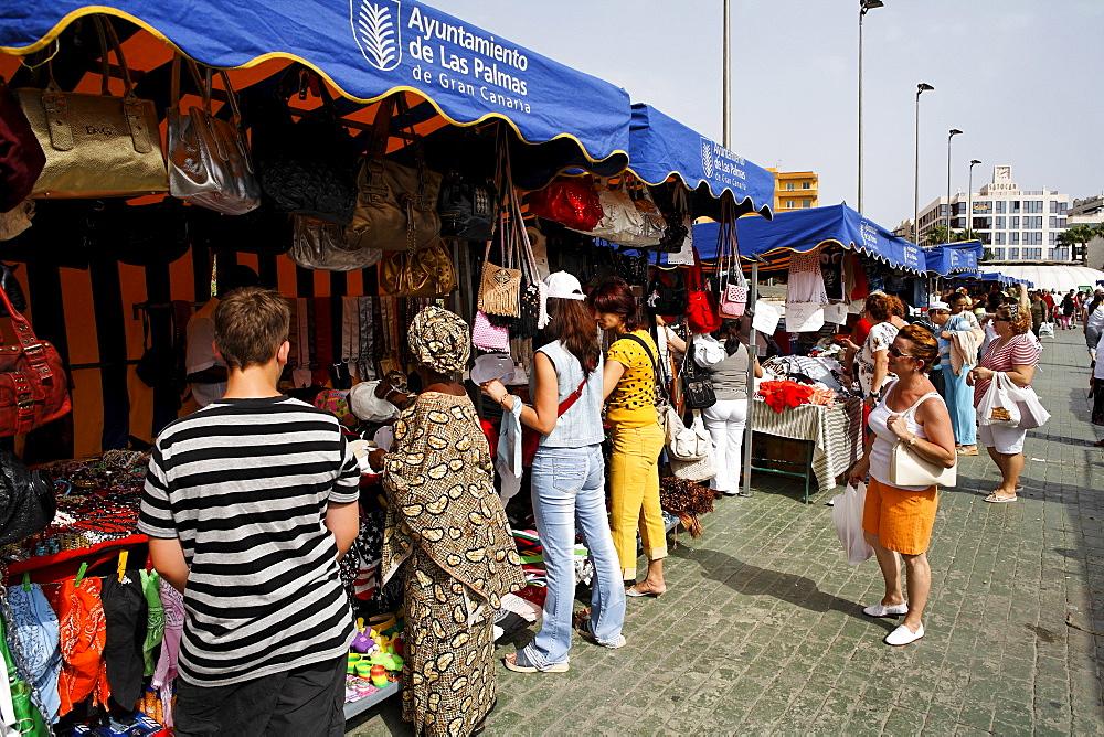 Flea market in Telmo park, Las Palmas de Gran Canaria, Spain