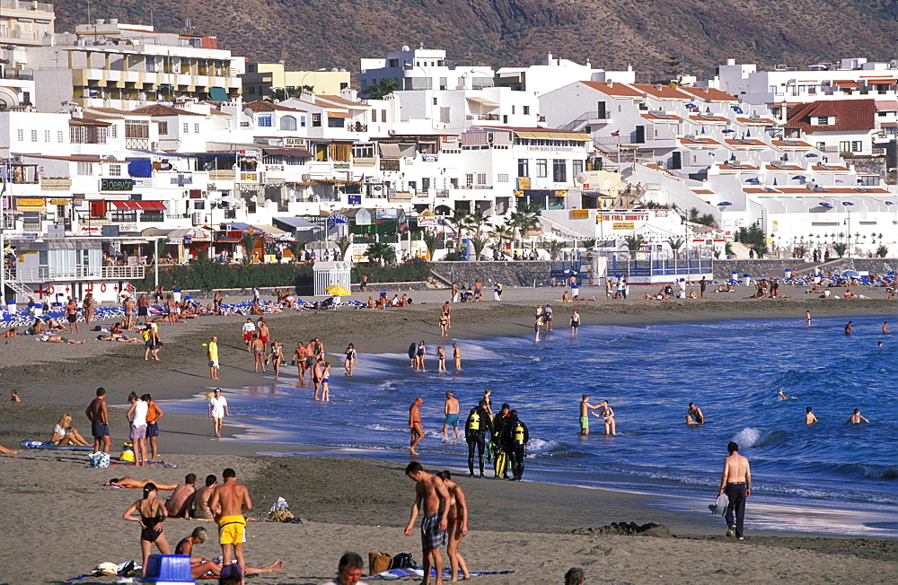 Los Cristianos, Playa de las Vistas, Tenerife, Canary Islands, Spain
