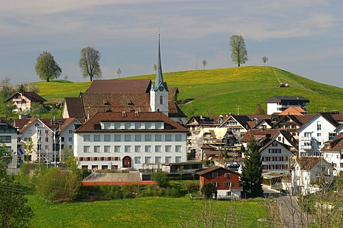 Menzingen, Switzerland in a famous drumlin-setting formed by glaciers during the last ice age.