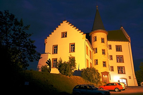 Krenkinger castle in the historic town of Engen (Hegau, Baden-Wurttemberg, Germany).