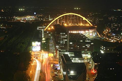 Kolnarena stadium is a popular venue location and home base for the Kolner Haie hockey team, Cologne, NRW, Germany